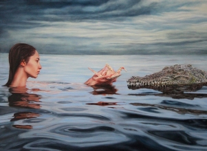 """Concessions"", 30""x22"", Oil on Linen, Thinkspace Gallery, Dreams of Flight, SOLD"