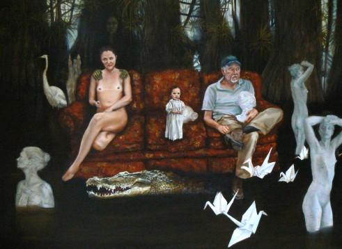 """In My Father's Image"", Oil on canvas, 32"" x 40"""