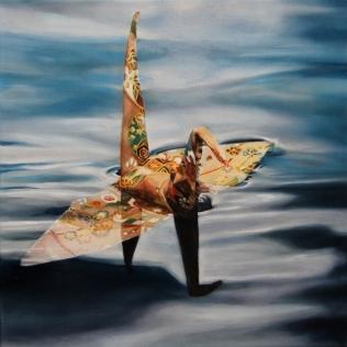 """""""Crane #2"""", Oil on Linen, 12""""x12"""""""