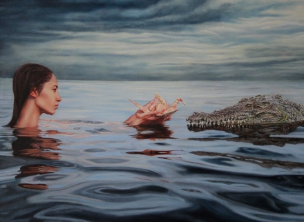") ""Concessions"", 30""x22"", Oil on Linen, contact Thinkspace Gallery"
