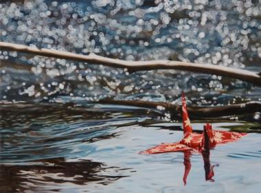 "Crane #11 (Rocky Mountains, CO) 16""x12"" Oil on Linen 2013"