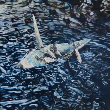 "Crane #13 (Rocky Mountains, CO) 10""x10"" Oil on Linen 2013"