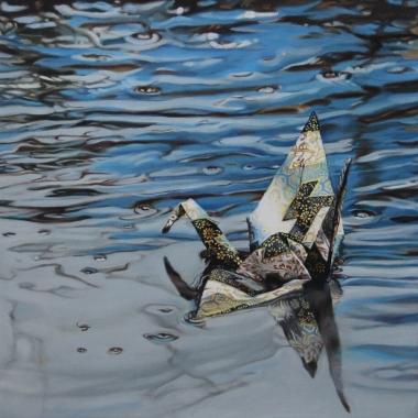 """Crane #28 (Morro Bay, CA) 10"""" x10"""" Oil on Linen 2015"""