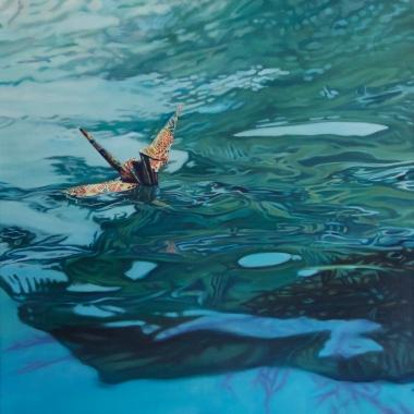 """Crane #30 (Morro Bay, CA) 20"""" x20"""" Oil on Linen 2015"""