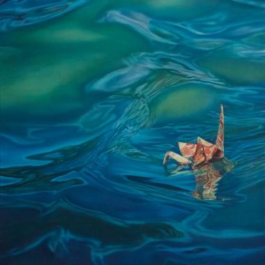 """Crane #31 (Morro Bay, CA) 20"""" x20"""" Oil on Linen 2015"""