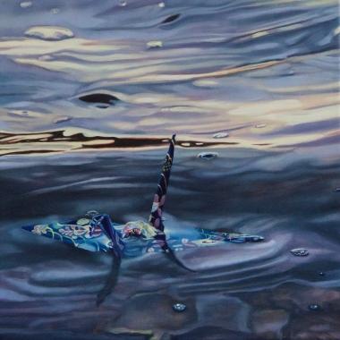 """Crane #35 (Morro Bay, CA) 12"""" x12"""" Oil on Linen 2016"""