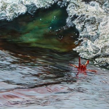 "Crane #38 (Carmel, CA) 36"" x72"" Oil on Linen"