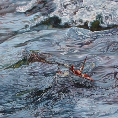 "Crane #39 (Carmel, CA) 36"" x72"" Oil on Linen"