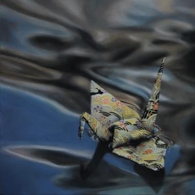 "Crane #4 (Amsterdam Canals, Holland) 12""x12"" Oil on Linen 2013"