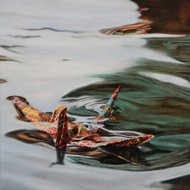 """Crane #40 (Carmel, CA) 2017 12x12"""" Oil on Linen 2016 2016"""